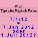 Datumsangabe Englisch – TEF Typische Englisch Fehler Folge 23
