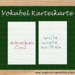 Vokabeln lernen mit System / irregular verbs