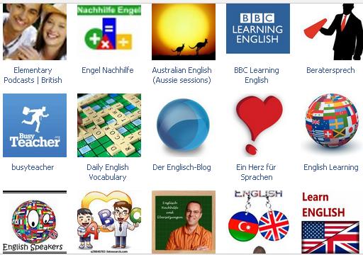 Facebook Seiten zum Englisch Lernen