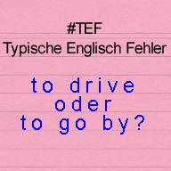 to drive oder to go by
