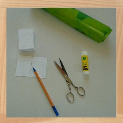 Vokabel Karteibox selber basteln - Vorbereitungen
