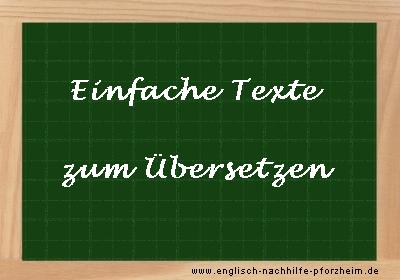 Einfache Texte Zum übersetzen Ins Englische